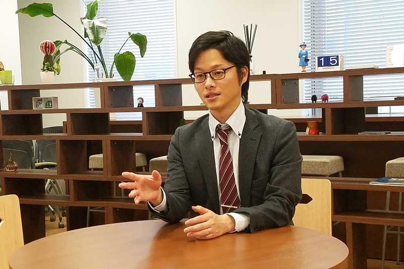 Next C.T.L社員インタビュー 園田さん 魚屋時代について語る様子